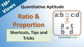 Download Ratio and Proportion - Shortcuts & Tricks for Placement Tests, Job Interviews & Exams Video