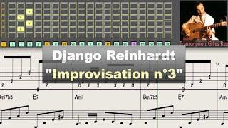 Download Django Reinhardt ″Improvisation n°3″ (1943) - jazz guitar solo transcription video by Gilles Rea Video