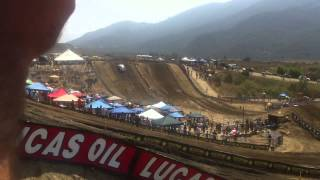 Download Trophy Truck jumps 50ft step-up at 2011 Motocross Nationals Video