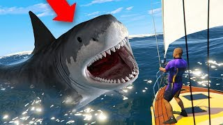 Download HUNTING THE MEGALODON SHARK IN GTA 5! Video