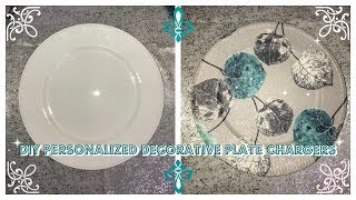 Download DIY - PERSONALIZED DECORATIVE PLATE CHARGER (DOLLAR TREE CHARGER) Video