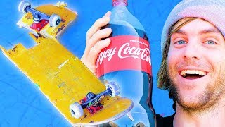 Download WE SOAKED A SKATEBOARD IN COCA COLA FOR 24 HOURS! | SKATE EXPERIMENTS EP. 7 Video