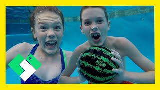 Download Underwater Basketball with the Watermelon Ball! (Day 1910) Video