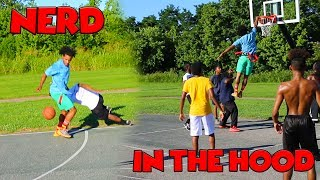 Download NERD Plays Basketball In The HOOD !!! Video