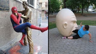 Download The Most Amazing People Who Pose Different With Sculptures Video