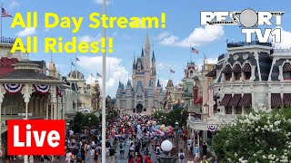 Download 🔴 Live: Riding Every Ride in Disney's Magic Kingdom - Part two!! Video