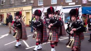 Download Pipe Band St Andrews Day Celebrations Wellmeadow Blairgowrie Perthshire Scotland Video