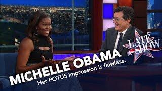 Download First Lady Michelle Obama Does Her Best Barack Impression Video