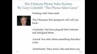 Download Phone Coaching with ″The Phone Sales Guru″ Gary Coleshill Video