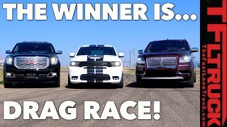 Download All American Big Ass Truck Drag Race! GMC vs Ford vs Dodge Video
