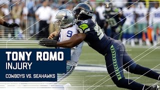 Download Tony Romo Goes Down with Apparent Back Injury | Cowboys vs. Seahawks (Preseason) | NFL Video