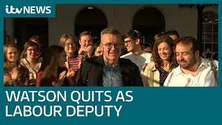 Download Shock as Labour deputy leader Tom Watson quits | ITV News Video