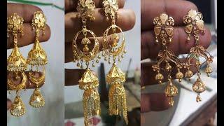 Download Latest gold jhumka,chandbali,gold earring Video