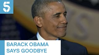 Download Barack Obama sheds tears as he says goodbye to White House | 5 News Video