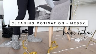 Download CLEANING MOTIVATION! All Day Apartment Deep Clean MESSY HOUSE Video