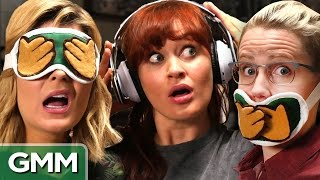 Download 3 Monkeys Challenge ft Grace Helbig, Mamrie Hart and Hannah Hart Video