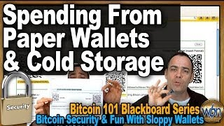 Download Bitcoin 101 - Getting Your BTCs out of Your Paper Wallets & Cold Storage - Fun with Sloppy Wallets Video