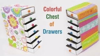 Download How to make a colorful mini chest of drawers using recycled materials - EP - simplekidscrafts Video