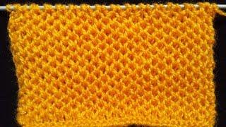 Download 53- Honeycomb Stitch - Knitting Pattern | HINDI Video
