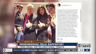 Download Criss Angel remembers late casino exec Felix Rappaport Video