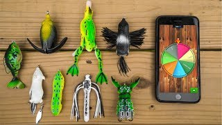 Download STUPID Topwater Lure ROULETTE Fishing Challenge!!! (Surprising Result) Video