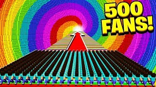 Download 500 FANS vs WORLD'S BIGGEST RAINBOW DROPPER! Video