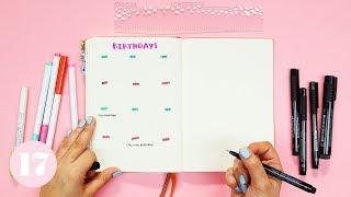Download One Minute Bullet Journal Layouts | Plan With Me Video