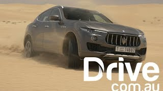 Download 2017 Maserati Levante S Takes On The Arabian Sand Dunes | Drive.au Video