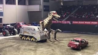 Download Monster Truck destruction - Megasaurus Video