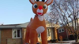 Download 15 Foot Inflatable Rudolph Video