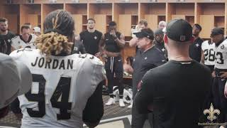 Download Exclusive: Watch the Saints locker room celebration after Monday Night Football Video