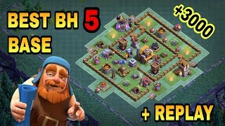 Download BUILDER HALL 5 (BH5) BEST BASE WITH REPLAY PROOF   BH5 TOP DEFENSIVE TROLL BASE   CLASH OF CLANS   Video