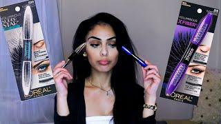 Download Loreal Voluminous X Fiber Mascara VS Loreal Voluminous Superstar Mascara - Review   Dana Dey Video