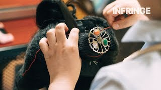 Download A rare look at the creation of a traditional hairstyle of a Geiko-in-training Video