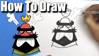 Download How To Draw Clash Royale Angry King Emoji - Step By Step Video