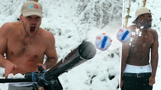 Download We made a DIY Snow Ball Rocket Launcher.. (shoots lego snowballs) Video