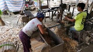 Download Bamboo Chopstick Factory - How It's Made Vietnam Video