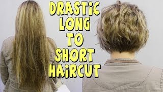 Download DRASTIC LONG TO SHORT WOMENS HAIRCUT Video