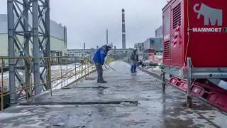 Download Timelapse of Chernobyl sarcophagus sliding Video