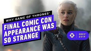 Download Why Game of Thrones' Final Comic Con Appearance Was So Strange - Comic Con 2019 Video