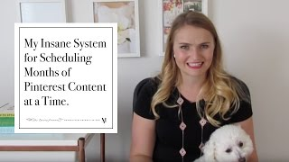 Download My Insane System for Scheduling Months of Pinterest Content at a Time. Video