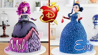 Download DESCENDANTS 2 🍎 Evie & Mal Doll Cake 💙 Tan Dulce Video