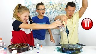 Download PAUSE SLIME CHALLENGE with Our DAD!!! Video