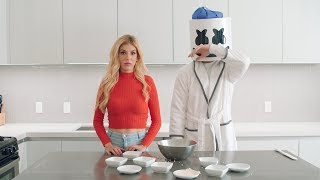 Download Rebecca Zamolo Makes Wonton Soup For A Sicko Mode Marshmello | Cooking with Marshmello Video