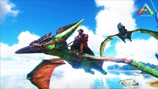 Download HikePlays ARK Survival - FLYING & EXPLORING The VOLCANO - DINO Hunter! EP.15 w/ Stream Team! Video