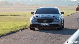 Download 1181 HP Brabus Mercedes CLS 63 AMG by GAD: Loud Turbo Sound, Downshifts and Accelerations Video