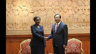 Download H.E. Senior Minister Prak Sokhonn met with H.E. Ms. Louise Mushikiwabo Video