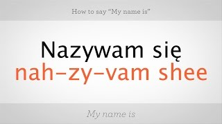 Download How to Say ″My Name Is″ in Polish | Polish Lessons Video