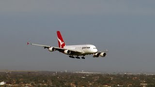 Download Qantas Skillful A380 Landing in 100 km per hour winds at Melbourne Airport. Treacherous Conditions. Video