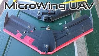 Download Microwing UAV - foam board drone - HKPilot APM 2.5 - Autonomous KFM7 flying wing Video